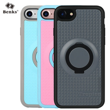 Benks High Quality Fashion 4 in 1 PC+TPU Phone Case Cover for iPhone 7/7 Plus Ring Holder Kickstand Anti-drop Magnetic Function(China (Mainland))