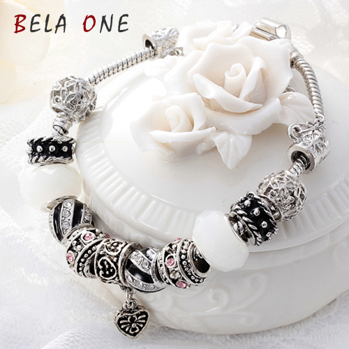 Free Shipping Valentine s Day Couples romantic Gifts murano glass bead charm beaded Fit Pandora Style