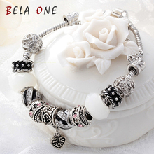 Free Shipping! Valentine's Day Couples romantic Gifts murano glass bead charm beaded Fit Pandora Style Bracelets PS3021