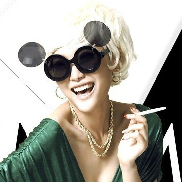 Lady gaga Sunglasses Women Party Paparazzi Celebrity Round Glasses Circle Flip Up Mickey Clear Glasses Oculos De Sol(China (Mainland))