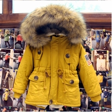 Chaqueta de invierno de algodón acolchado para Niñas con cuello de piel