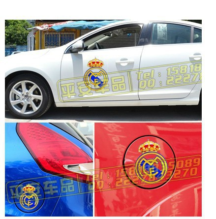 Fans souvenirs Real Madrid AC Milan Juventus Arsenal Football team football club soccer team car stickers,Size:20,30,40,50cm(China (Mainland))