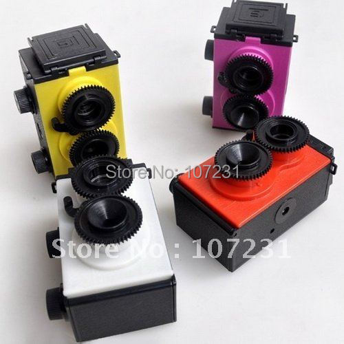 New DIY Lomo Recesky TLR 35mm (GakkenFlex Clone)-Twin Lens Reflex Retro Camera