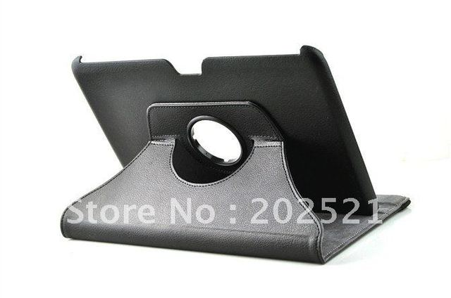360 Degrees leather case for samsung galaxy note N8000 Ttablet pc 10.1 inch  Free Shipping