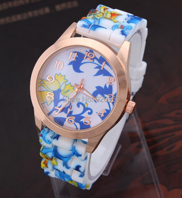 2015 Women's Flowers Watches Casual Silicone Ladies Quartz Wristwatches - Fashion Boutique-No.1 store
