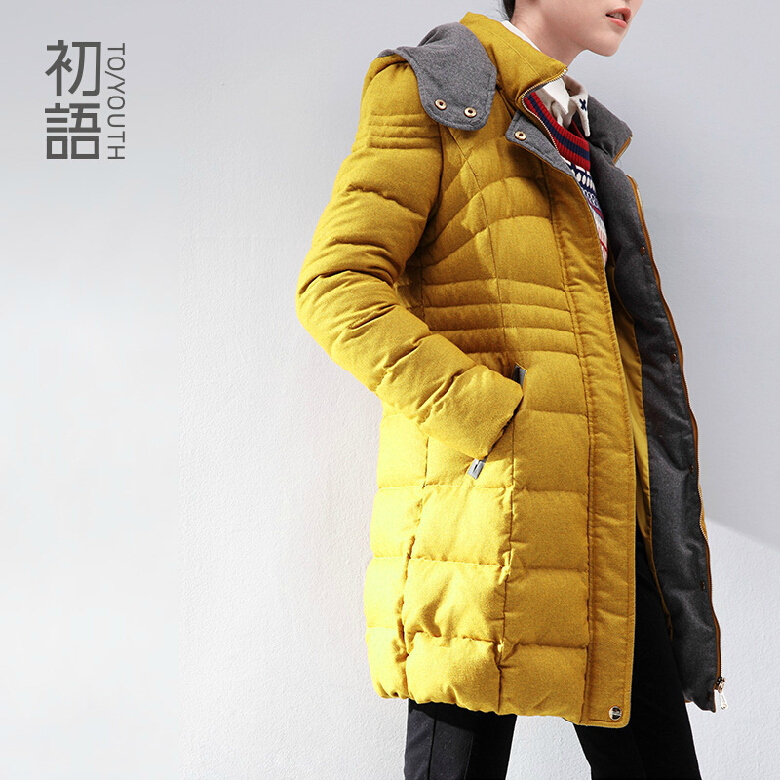 To Youth Winter Coat Women Thicking Warm Jacket Woman's Outerwear Slim Hooded Down Jacket Woman Down Coat 80%Duck Down Coat