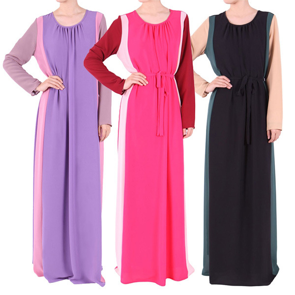 Muslimah clothes latest design muslimah dress islamic dress for women long sleeve vintage maxi Retro style fashion for muslimah