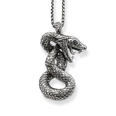 Black Snake Pendant Necklace,Thomas Style Glam And Soul Good Jewelry For Women,2015 Ts Gift In 925 Sterling Silver,Super Deals(China (Mainland))