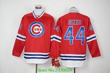 2016 Chicago Cubs Hoodie 12 Kyle Schwarber 17 Kris Byant 44 Anthony Rizzo 49 Jake Arrieta Jerseys Red 100 year long sleeves(China (Mainland))