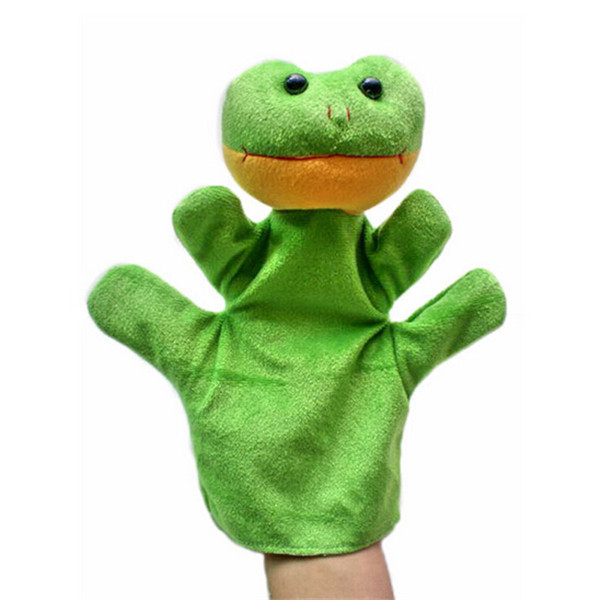 High Quality Puppets Animal Doll Plush Frog Hand Puppet Soft Toy Finger Puppets Birthday Christmas Gift For Kids 1pcs/lot(China (Mainland))