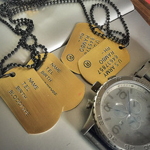 Vintage retro bronze medal finishing digital letter pendant tag necklace free(China (Mainland))