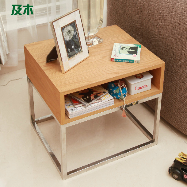 Coffee Table Simple Modern Creative Small Coffee Table: Stainless Steel Coffee Table / Modern Creative Solid Wood