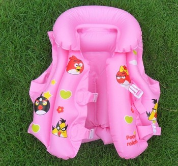 Birds children inflatable life jacket life vest free shipping 1pcs retail