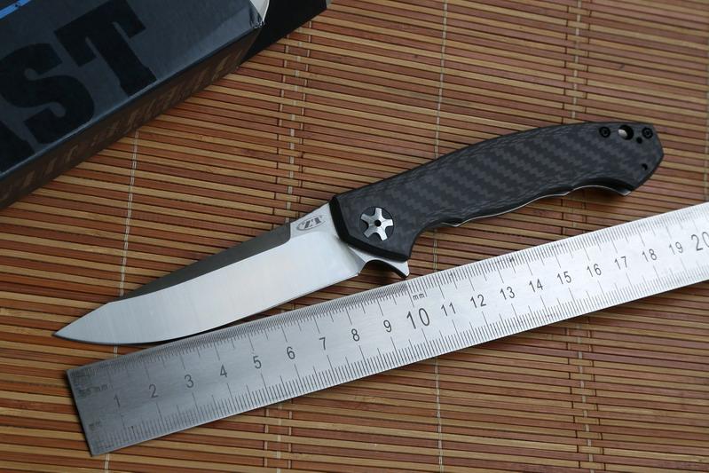 Zero telerance ZT Flipper 0452CF Folding Knife s35vn carbon fiber titanium Ball Bearing general Pocket Outdoor Survival EDC Tool(China (Mainland))