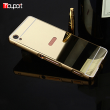 Buy Sony Xperia XA Case Luxury Metal Phone Bags Aluminum Frame + Acrylic Mirror Back Cover Mirror Case Plating Sony XA for $3.36 in AliExpress store