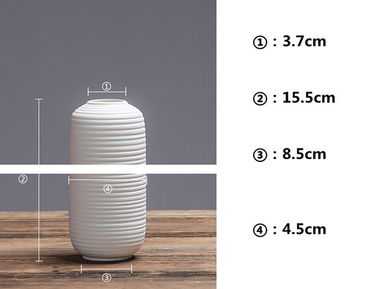 Fashion White Ceramic Flower Vase for Homes,Decorative Vases,Home Decoration Modern or Wedding Decoration Vaso,Hot