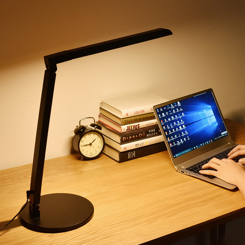 Modern Office Lamp LED Work Desk Lamp 5-level Dimmer Touch Sensor Adjustable Bedroom Study Reading Lights Foldable Table Lamp(China (Mainland))