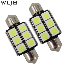 2x 36mm  White Error Free Led Canbus C5W 6418 Car LED Lamp Bulbs Number License Plate Lights For Mini Cooper(China (Mainland))