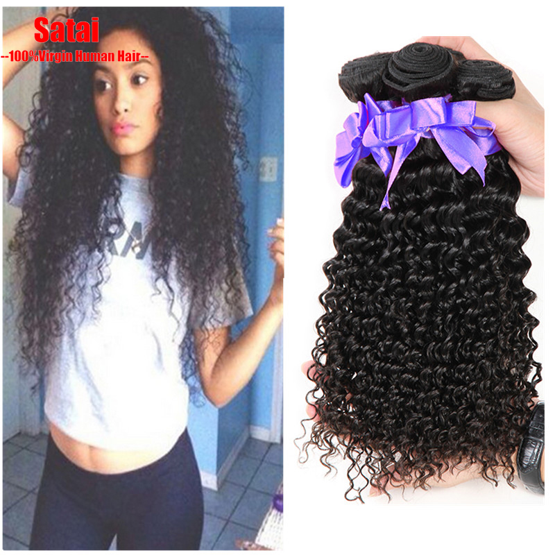 Unprocessed Virgin Indian Deep Curly Hair 3 Bundles Indian Curly Virgin Hair 6A Virgin Indian Hair 100% Wet And Wavy Human Hair