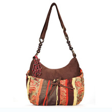 Ethnic shoulder bag long strap bohemian style cross body bags women vintage messenger bag Boho style Suede Bags CY-1(China (Mainland))