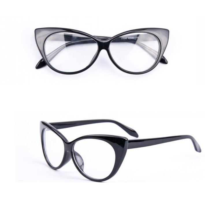 cat eye glasses women gafas retro fashion black women glasses frame