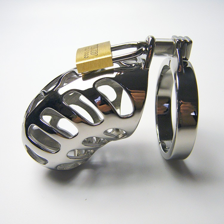 Stainless steel Male Dildo Cage,Sex for men penis chastity,cock sleeve,Penis Cage,5 card ring size,adult sex shop