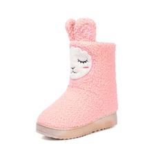 Yeni kış ev çizme kadınlar için ev ayakkabıları kapalı yatak odası ev sıcak peluş çizme yetişkin sevimli hayvan karikatür Flats ayakkabı(China)