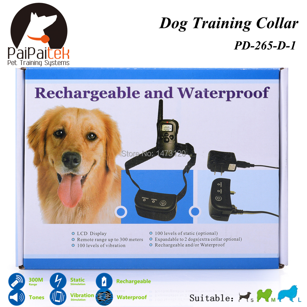 Hot Remote Dog Training Collars Shock+Vibra+Electric+ LCD Display 300M Rechargeable Electric Dog Training Collar No Bark Collar(China (Mainland))