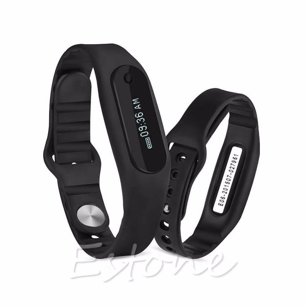E06 Bluetooth Fitness Tracker Touch Screen Wristband Smart Bracelet for Phone<br><br>Aliexpress