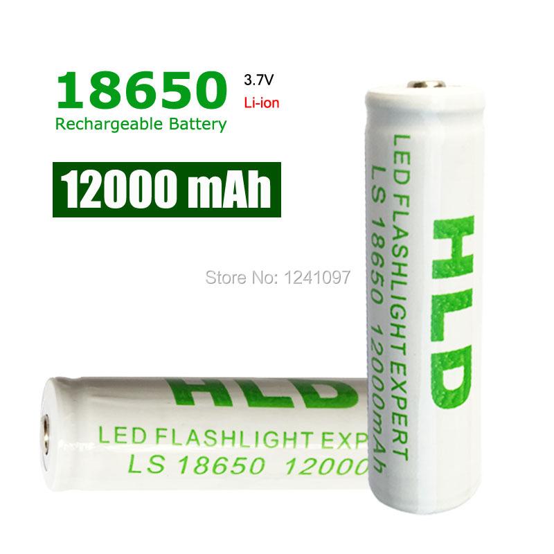 5pc High capacity 18650 Rechargeable Battery(not AA/AAA Battery) 3.7v 12000 Mah Li-ion Tip Head Bateria for Flashlight Headlamp(China (Mainland))