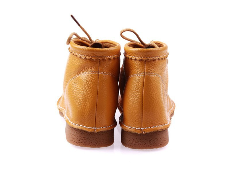 2016 spring women flats women genuine leather shoes women high boots for women motorcycle boots rubber boots zapatillas 8663