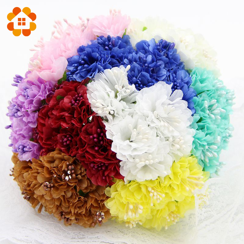 60pcs silk artificial daisy chrysanthemum flower for Artificial flower decoration for home