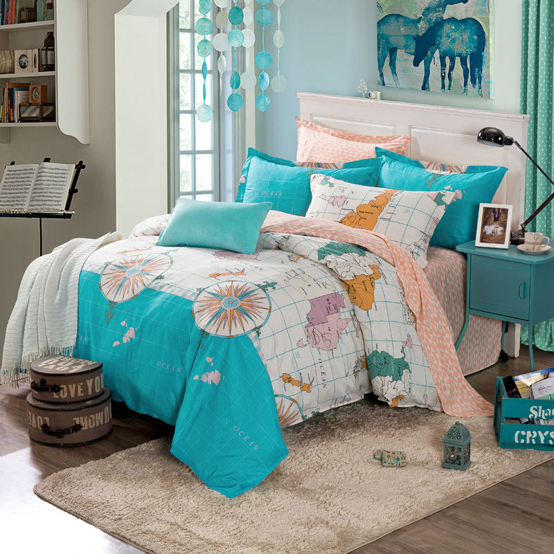 online kaufen gro handel sea green duvet cover aus china. Black Bedroom Furniture Sets. Home Design Ideas
