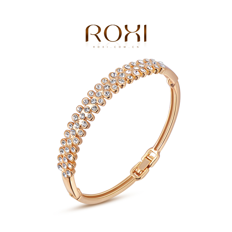 ROXI Free Shipping 2015 Fashion Jewelry Austrian Crystal Fox Bracelet 18 k Gold Plated For Women(China (Mainland))