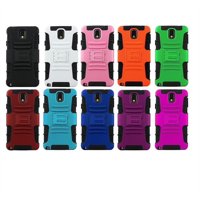 Hybrid Armor Defender Sliding Sleeve W/ Kickstand Cover Cell Phone Case For Samsung Galaxy Note 3 N9000(China (Mainland))