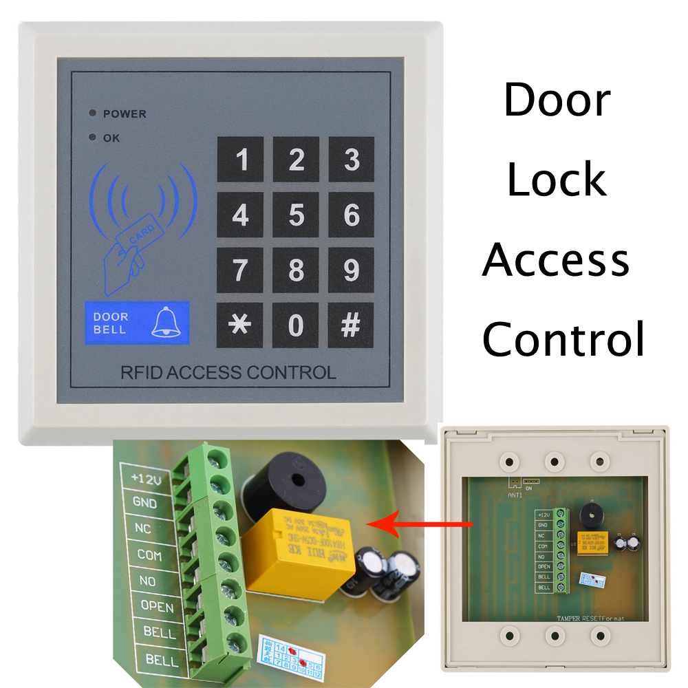 2016 NEW Electronic RFID Proximity Entry Door Lock Access Control System High Security Card Reader(China (Mainland))