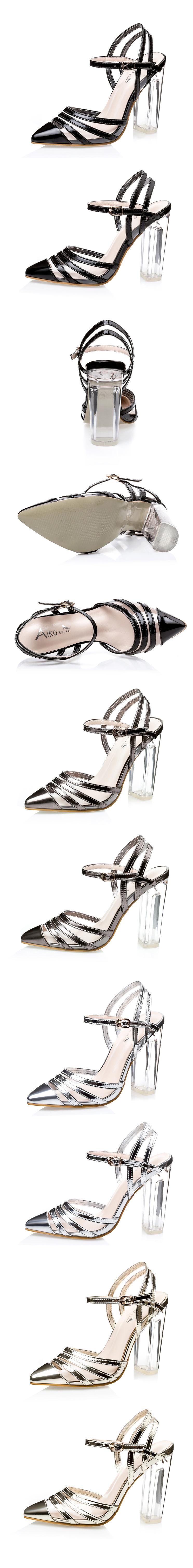 Fashion Women Shoes 2016 Spring Summer Sexy Crystal High Heels Women Pumps Platform Party Dress Pumps Women Sandals Silver