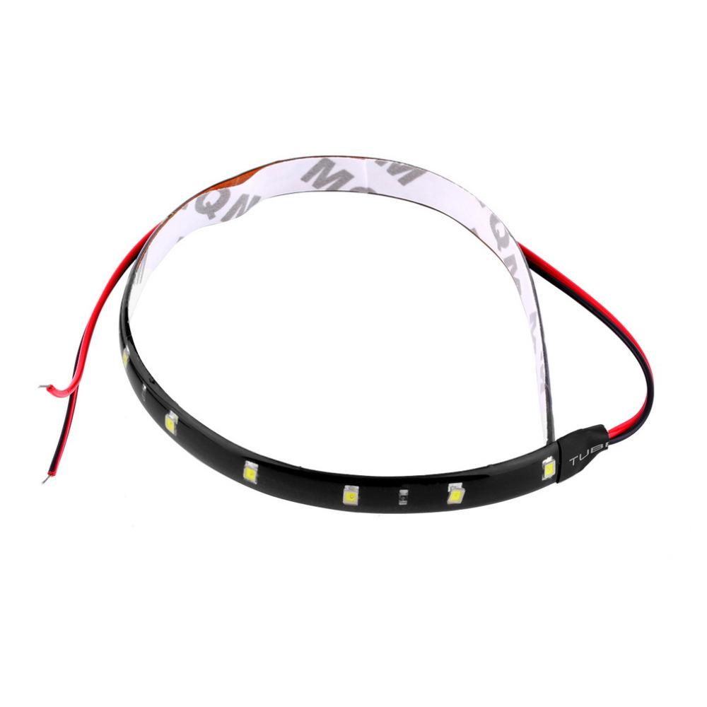 1Pc 30cm 15 Red LED Waterproof Flexible Car Grill Strip Light Lamp Bulb Car Styling LED Strip Car Decoration 12V hot sale<br><br>Aliexpress
