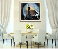 New Arrival 5D DIY Diamond Painting Sewing Embroidery Kits Round Diamonds Wolf with Girl Cross Stitch Crafts Home Decor