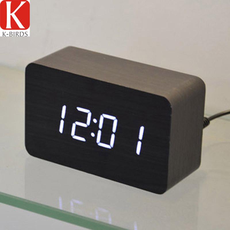 New design Electronic Relogio digital desperatdor,Temperature Sounds Control LED display alarm clock Classic vintage desktop(China (Mainland))