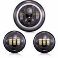 7 LED Daymaker Headlamp Headlight Auxiliary Passing Lights For Harley Road King
