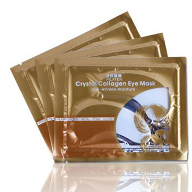 Free shipping Crystal Eyelid Patch/Crystal collagen eye mask 5Pcs/lot(China (Mainland))