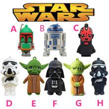 Pen drive Star Wars Yoda R2D2 Darth Vader  8gb 16gb 32gb 64gb  usb 2.0 flash drive memory card stick disk pendrive(China (Mainland))