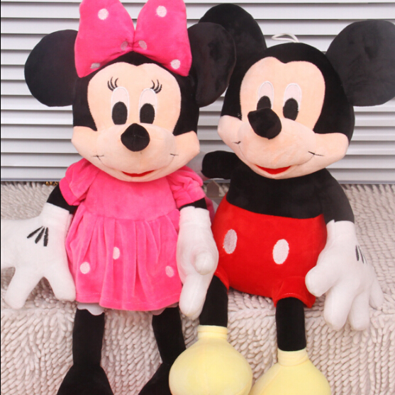 2015 New 1 Piece 28CM-30CM Mini Lovely Mickey Mouse And Minnie Mouse Stuffed Soft Plush Toys Christmas Gifts(China (Mainland))