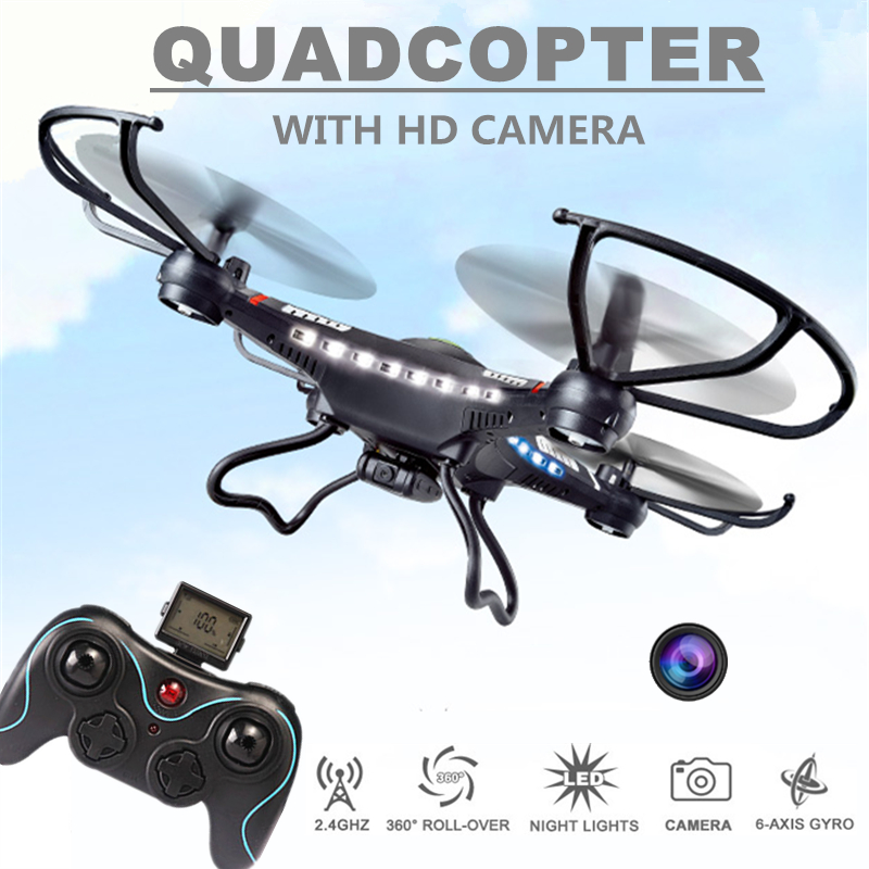 Rc Drones With Camera Hd Jjrc H8c Flying Camera Helicopter Radio Control Rc Quadcopter Professional Drones Remote Control Drones(China (Mainland))