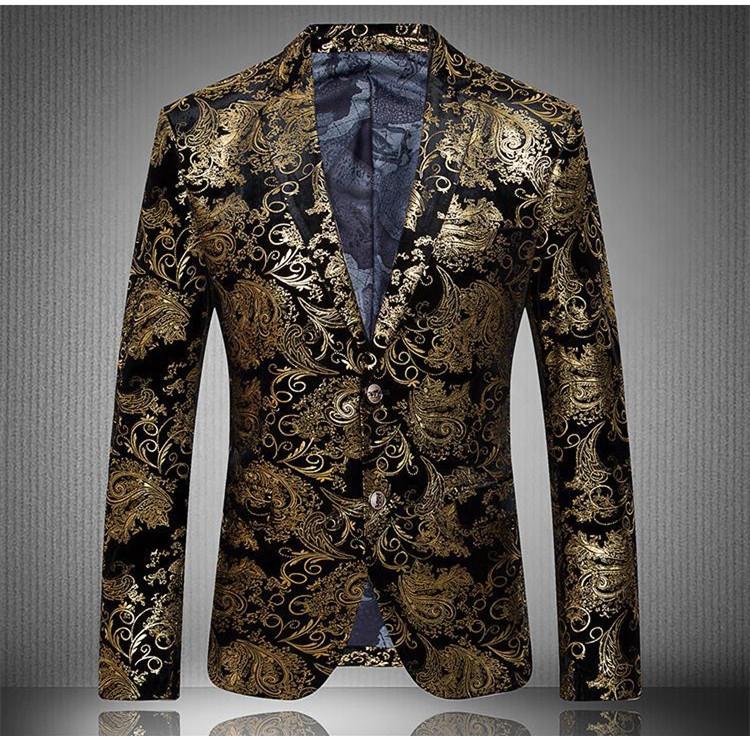 or veste hombre luxe jaune veste mens fleur blazer veste costume homme veste masculno chaqueta. Black Bedroom Furniture Sets. Home Design Ideas