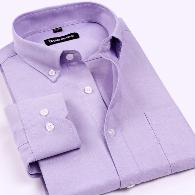 Новинка 2016 мужские оксфорд рубашки Wrinkle тонкой кнопка - с длинным рукавом мода ...