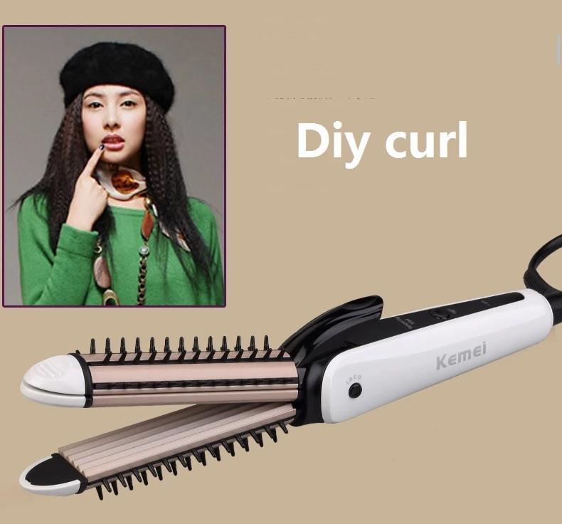 2in1 ceramic hair straightener professional chapinha flat iron titanium straightening electronic curl high quality 2015 new(China (Mainland))
