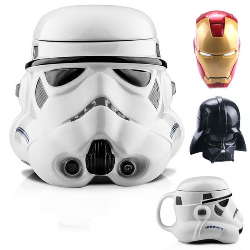 Nightmare Before Christmas Coffe Cup Star War White Black Knight Iron Man Water Cup 3D Creative