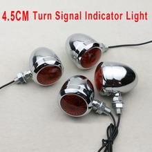 4PCS Styling Vintage Turn Signal Indicator Light Metal Modified Motor Lights 4.5CM for Harley Chopper Scooter Bobber Cruiser(China (Mainland))